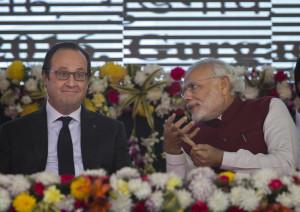 Francois Hollande, Narendra Modi
